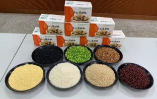 北埔鄉農會五行雜糧飯冷凍包,加熱即可食用,方便又兼具健康養生與美味。(記者廖怡婷翻攝)