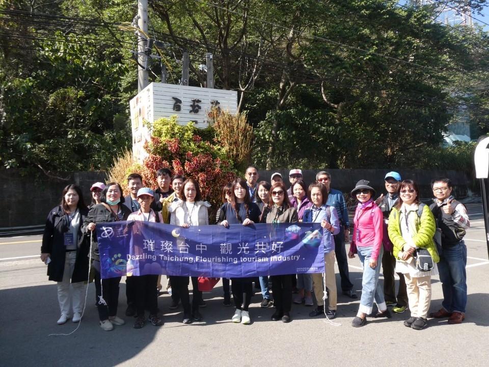 旅行業者組團中部踩線 看好台灣燈會觀光商機。(特派員孫崇文翻攝)