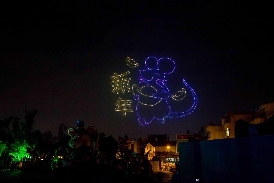 800台無人機開幕展演 台灣燈會將點亮夜空。(記者陳信宏翻攝)
