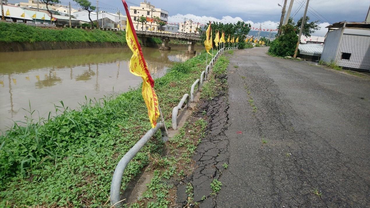 安良港大排護岸復建工程進度超前 汛期前完工。(記者劉明福翻攝)