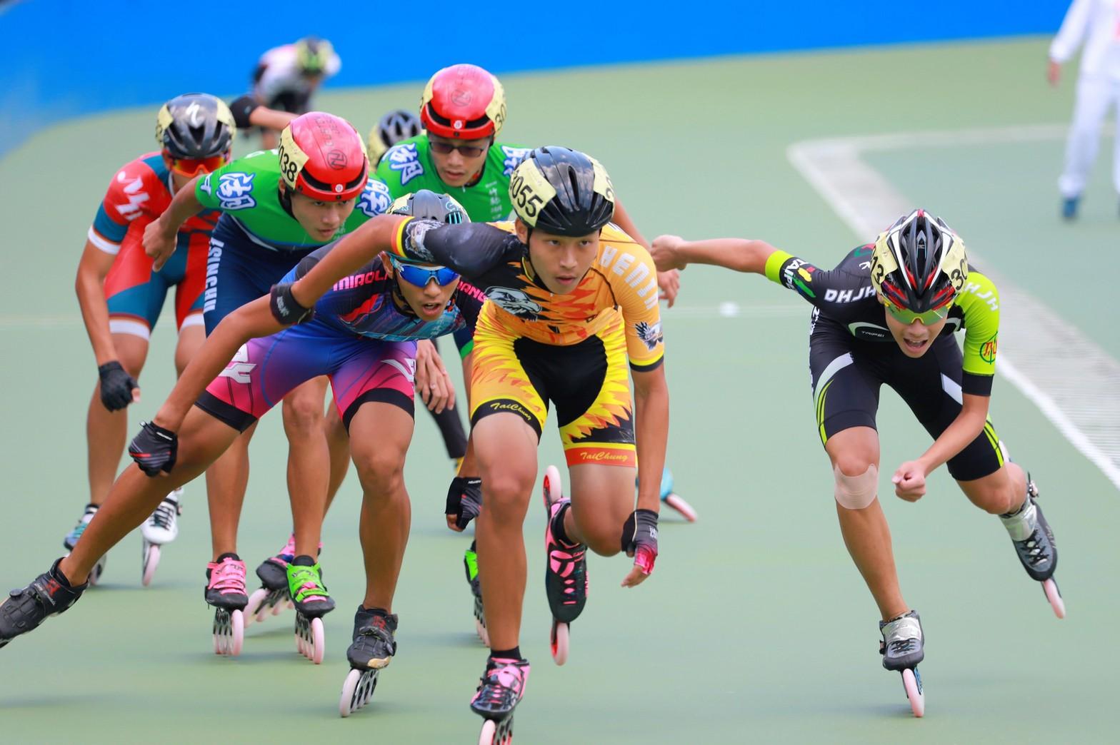 全中運奪3金3破大會紀錄 中市選手李銘昌滑輪溜冰成績傲人。(記者張越安翻攝)