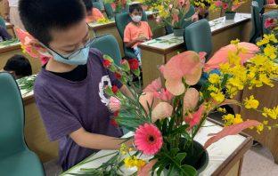 農糧署輔導高雄市政府辦理國小校園花卉教育。(記者張光雄翻攝)