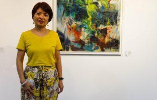 台中市城中美術會會員聯展。(記者張越安翻攝)