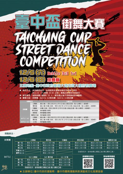 台中盃街舞大賽即日起開放報名