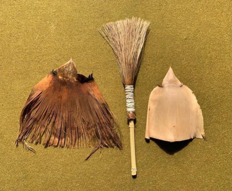 陳正隆作畫的竹筆及竹殼。