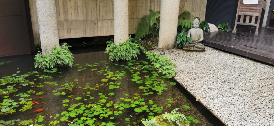 大里菩薩寺環境清幽,是台中知名景點。(葉志雲攝)