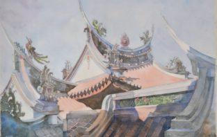 西畫類第1名紀淵博「早安樂成宮」