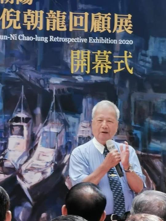 倪朝龍去年6月在台中大墩文化中心舉行回顧展