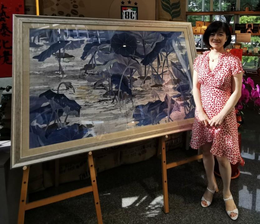 張若琳和甫入圍26屆大墩美展膠彩作品「悸動」