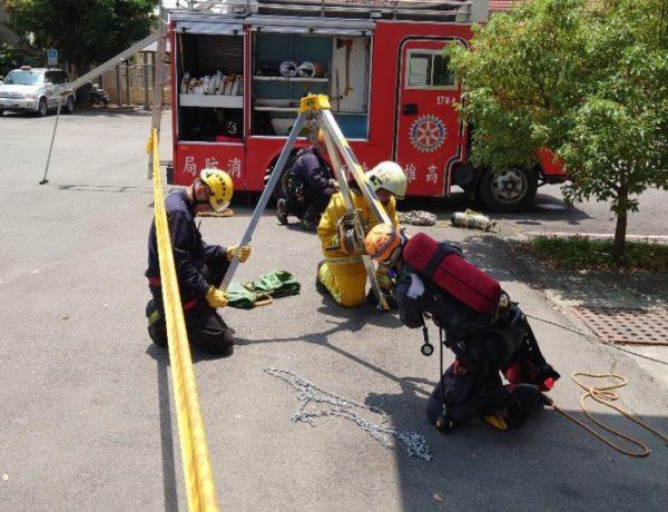 救援急先鋒!地下槽體昏迷民眾待救 考驗消防人員救援能力
